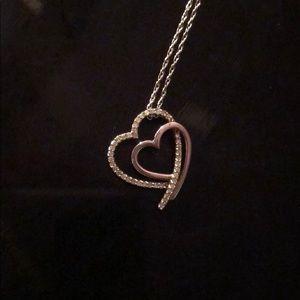 1/8 ct diamond heart necklace